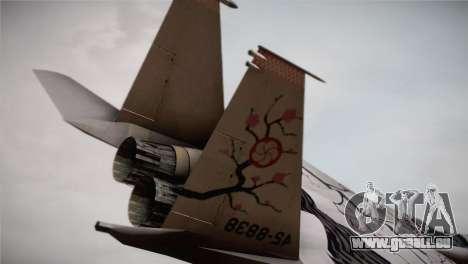 F-22 Raptor Colorful Floral pour GTA San Andreas sur la vue arrière gauche