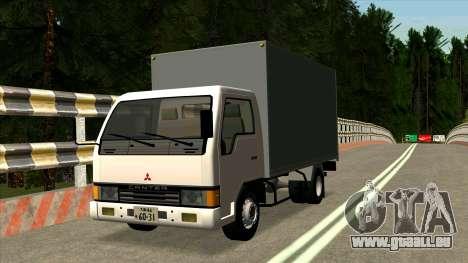 Mitsubishi Fuso Canter 1989 Aluminium Van pour GTA San Andreas
