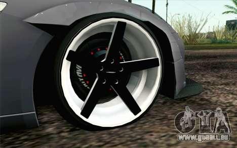 Nissan GT-R 2014 RocketBunny pour GTA San Andreas sur la vue arrière gauche