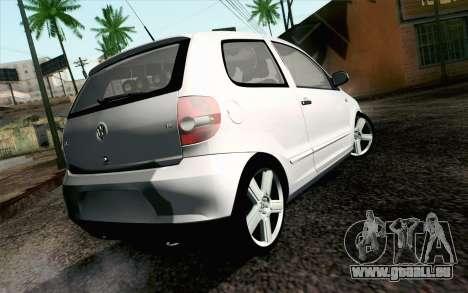 Volkswagen Fox pour GTA San Andreas laissé vue