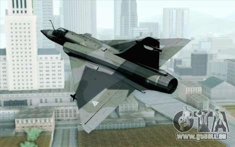 Dassault Mirage 2000 ISAF pour GTA San Andreas laissé vue