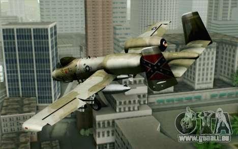 A-10 Desert Camo pour GTA San Andreas laissé vue