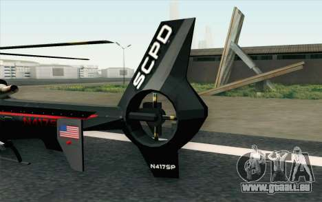NFS HP 2010 Police Helicopter LVL 3 für GTA San Andreas zurück linke Ansicht