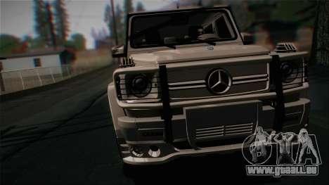 Mercedes-Benz G65 2013 Hamann Body für GTA San Andreas zurück linke Ansicht