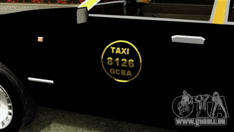 Ford Taunus 1981 Taxi Argentina für GTA San Andreas Rückansicht