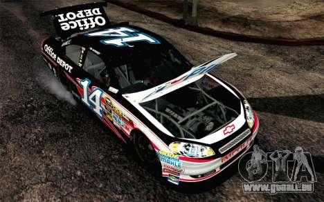 NASCAR Chevrolet Impala 2012 Plate Track für GTA San Andreas Rückansicht