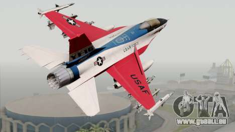 YF-16 Fighting Falcon für GTA San Andreas linke Ansicht