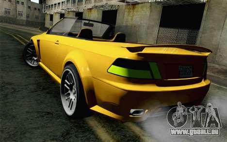GTA 5 Ubermacht Sentinel Coupe pour GTA San Andreas laissé vue