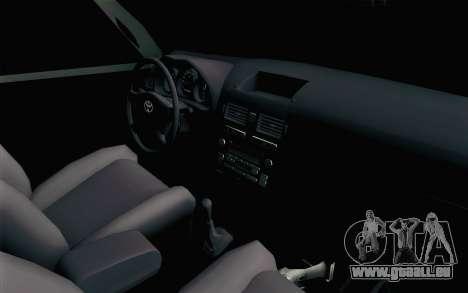 Toyota Fortuner 2014 4x4 Off Road für GTA San Andreas zurück linke Ansicht