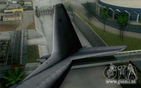 C-130H Hercules USAF pour GTA San Andreas sur la vue arrière gauche
