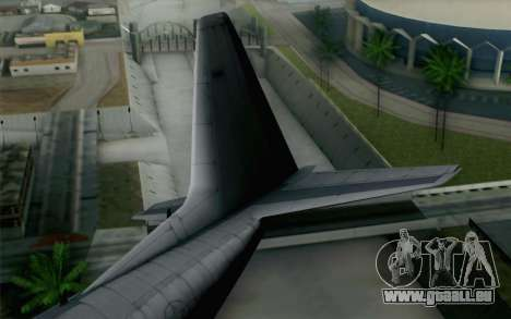 C-130H Hercules USAF für GTA San Andreas zurück linke Ansicht