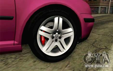 Volkswagen Golf v5 Stock pour GTA San Andreas sur la vue arrière gauche