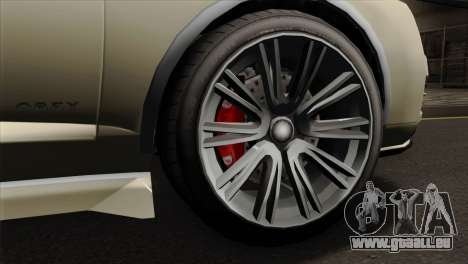 GTA 5 Obey Tailgater SA Mobile für GTA San Andreas zurück linke Ansicht