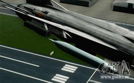 MIG-21MF Vietnam Air Force für GTA San Andreas rechten Ansicht