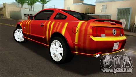 Ford Mustang GT PJ pour GTA San Andreas laissé vue
