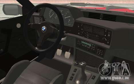 BMW M635CSI E24 1986 V1.0 für GTA San Andreas Rückansicht