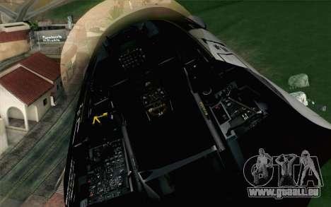 F-16C Fighting Falcon Aggressor Alaska BlackGrey pour GTA San Andreas vue arrière