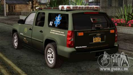 Chevrolet Suburban National Guard MedEvac pour GTA San Andreas laissé vue