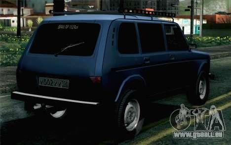 VAZ 2131 Niva 5D pour GTA San Andreas laissé vue