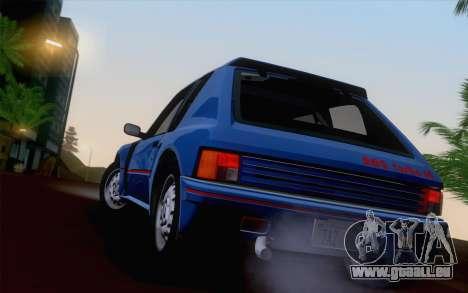 Peugeot 205 Turbo 16 1984 [HQLM] pour GTA San Andreas vue de côté