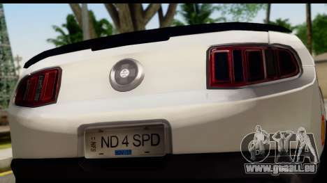 Ford Mustang 2010 Cobra Jet pour GTA San Andreas vue de droite