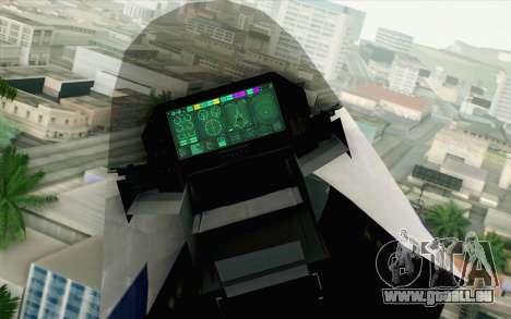 CFA-44 Butterfly Master für GTA San Andreas Rückansicht