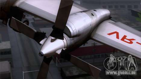 L-188 Electra Cathay P pour GTA San Andreas vue arrière