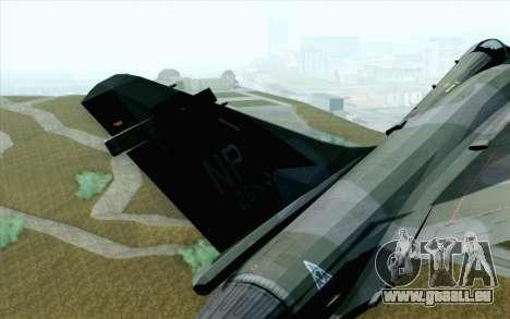 Dassault Mirage 2000 ISAF pour GTA San Andreas sur la vue arrière gauche