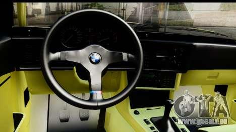 BMW M635 E24 CSi 1984 pour GTA San Andreas vue intérieure