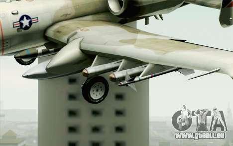 A-10 Desert Camo für GTA San Andreas Rückansicht