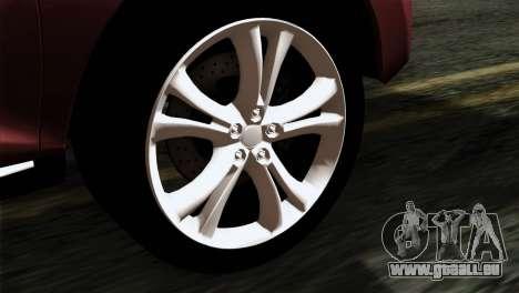 Nissan Murano 2008 für GTA San Andreas zurück linke Ansicht
