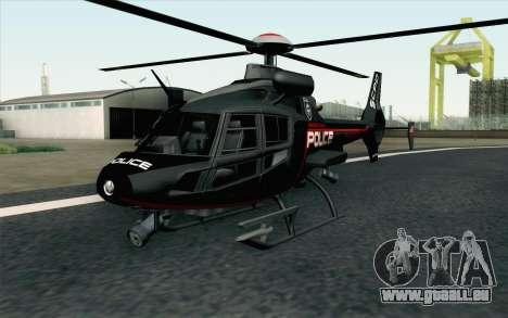 NFS HP 2010 Police Helicopter LVL 3 für GTA San Andreas