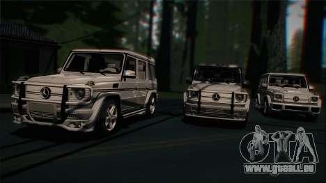 Mercedes-Benz G65 2013 AMG Body für GTA San Andreas Innenansicht