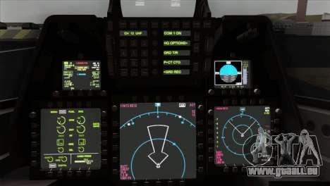 F-22 Raptor 02 pour GTA San Andreas vue de droite