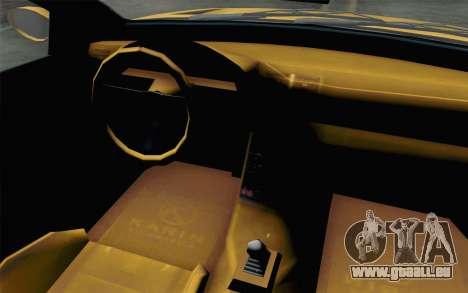 GTA 5 Ubermacht Sentinel Coupe pour GTA San Andreas vue arrière