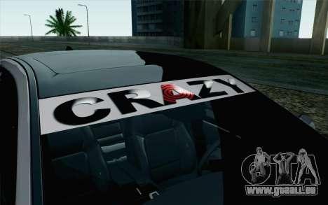 BMW 535i 2011 pour GTA San Andreas vue arrière