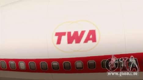 Lookheed L-1011 TWA für GTA San Andreas Rückansicht