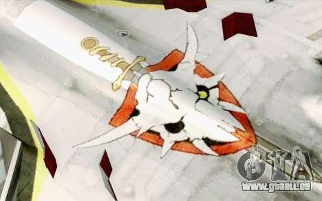 Sukhoi SU-27 Macross Frontier für GTA San Andreas Rückansicht