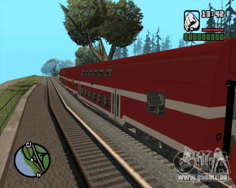 Israeli Train Double Deck Coach für GTA San Andreas linke Ansicht