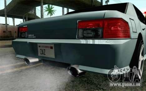Sultan Lan Evo pour GTA San Andreas vue de droite