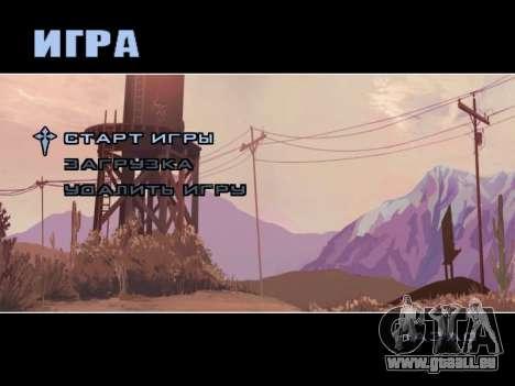 Menü HD für GTA San Andreas dritten Screenshot