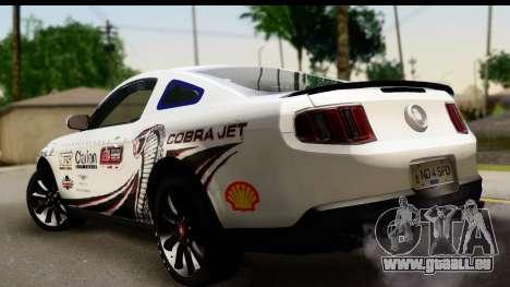 Ford Mustang 2010 Cobra Jet pour GTA San Andreas laissé vue