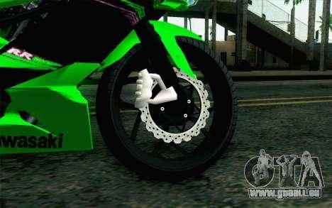Kawasaki Ninja 250RR Mono Green pour GTA San Andreas sur la vue arrière gauche