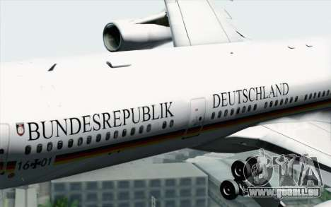 Airbus A340-300 Luftwaffe Konrad Adenauer für GTA San Andreas rechten Ansicht