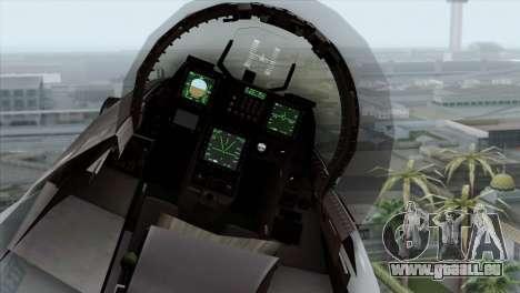 F-16C Block 52 PJ für GTA San Andreas Rückansicht