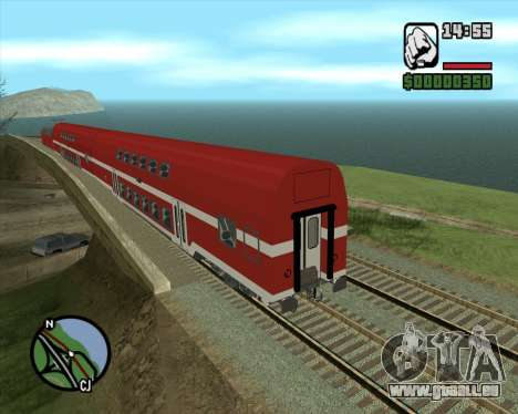 Israeli Train Double Deck Coach für GTA San Andreas
