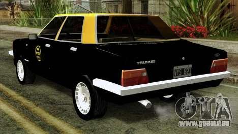 Ford Taunus 1981 Taxi Argentina pour GTA San Andreas laissé vue