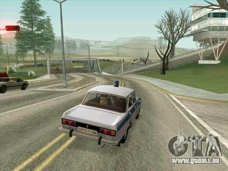 Moskvich 2140 Police pour GTA San Andreas vue de dessus