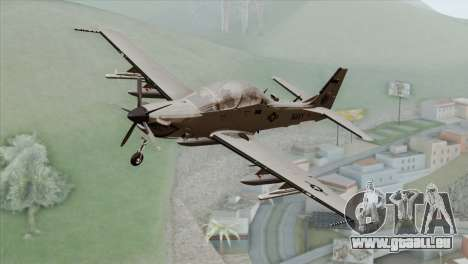 Embraer A-29B Super Tucano Navy White pour GTA San Andreas