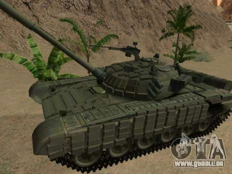 Réservoir T-72B pour GTA San Andreas laissé vue